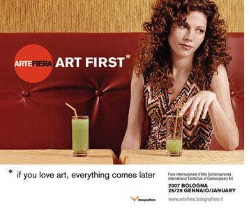 Announcing the 2007 edition of BOLOGNA ART FIRST