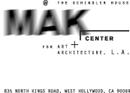 MAK Center for Art & Architecture