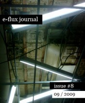 e-flux journal issue #8 out now