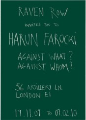 'Harun Farocki. Against What? Against Whom?'