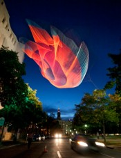 Janet Echelman Sculpture Premieres for Biennial of the Americas