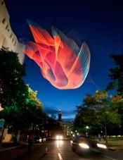Janet Echelman Sculpture Premieres for Biennial of the Americas