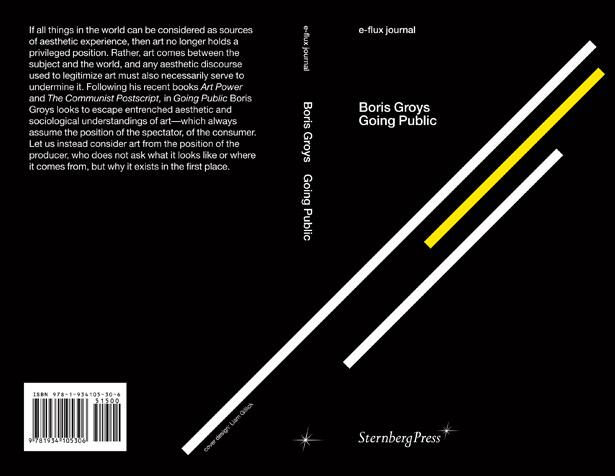 Boris Groys' Going Public launching at NY Art Book Fair - PS1/MoMA