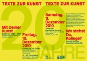 Where do you stand, colleague? Art criticism and social critique - Symposium on the occasion of the 20th anniversary