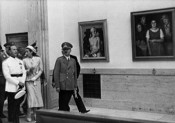 "The images from GDK 1939 showing the visit of the Italian Minister of People's Culture Dino Alfieri on the opening of  the ""Grosse Deutsche Kunstausstellung"" (16. Juli 1939). © Zentralinstitut für Kunstgeschichte, München, Photothek"