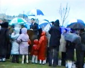 Still image from VHS footage filmed at Shalom Park, Cork, April 28, 1989. Courtesy of Fred Rosehill.