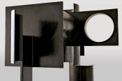 "David Smith, ""Zig III,"" 1961 (detail). Painted steel, 93 × 124 × 61 inches."