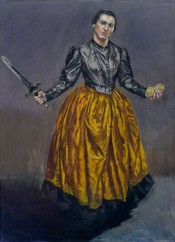 "Paula Rego, ""Angel,"" 1998. Pastel on paper mounted on aluminium, 180 x 130 cm."