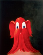 "George Condo, ""Red Antipodular Portrait,"" 1996. Oil on canvas, 152,4 x 121,9 cm.*"