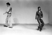 "Yvonne Rainer, ""Trio A,"" 1966. Performed as part of ""This is the story of a woman who…,"" Theater for the New City, New York, 1973. Performers: John Erdman and Yvonne Rainer.*"