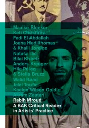 Cover, Rabih Mroué: A BAK Critical Reader in Artists' Practice.