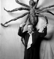 Louise Bourgeois with SPIDER IV in 1996 (detail).*