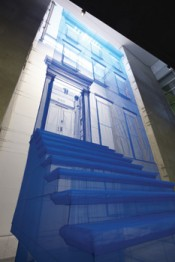 "Do Ho Suh, ""Blueprint (Leeum Version),"" 2010–2012. Polyester fabric, metal armature, 663.4 x 377.4 x 1337.9 cm."
