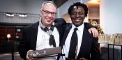 Charles Esche and John Akomfrah (c) ECF/Olivier Anbergen.