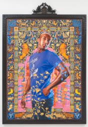 "Kehinde Wiley, ""Alios Itzhak (The World Stage: Israel),"" 2011. Oil and gold enamel on canvas, 115½  x 80.125 inches.*"