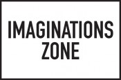 "Jarosław Kozłowski, ""Imaginationszone"" (Imagination Zone), 1970/2012, 21 signs 20 x 30 cm. Design by Jarosław Kozłowski. Courtesy the artist and Generali Foundation."