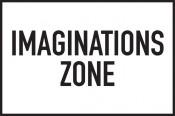"""Jarosław Kozłowski, """"Imaginationszone"""" (Imagination Zone), 1970/2012, 21 signs 20 x 30 cm. Design by Jarosław Kozłowski. Courtesy the artist and Generali Foundation."""