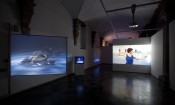 "Charles Atlas, ""Discount Body Parts."" Installation view at De Hallen Haarlem, 2012.*"