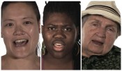 Sharon Hayes, &quot;Voice Portraits: Aya, Stokely, Lola,&quot; 2012. Video, color, silent.*