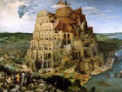 Pieter Bruegel the Elder, &quot;The Tower of Babel,&quot; 1563. Oil on oak panel, 114 x 155 cm. Kunsthistorisches Museum, Vienna.