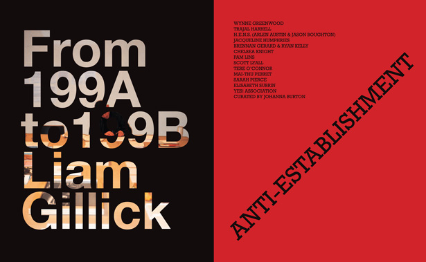 CCS Bard presents From 199A to 199B: Liam Gillick and Anti-Establishment