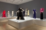 "Exhibition view, ""An American Legacy: Norell, Blass, Halston & Sprouse."" Courtesy of the Indianapolis Museum of Art."
