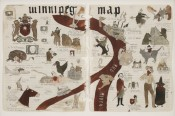 "Marcel Dzama, ""Untitled (Winnipeg Map),"" 2007. Courtesy David Zwirner, New York."