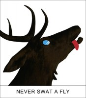 "John Baldessari, ""Double Play: Never Swat a Fly,"" 2012. Archival inkjet print, 16 x 14 inches, signed and numbered ed. of 75."
