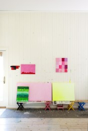 Mary Heilmann's Studio, June 2012.Photo: Philip Mauro.