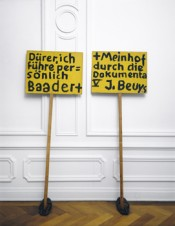 Joseph Beuys, &quot;Drer, ich fhre persnlich Baader + Meinhof durch die Dokumenta V,&quot; 1972. Photo: Nic Tenwiggenhorn.  VG Bild-Kunst, Bonn 2012.