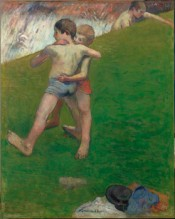 Paul Gauguin, Breton Boys Wrestling, 1888. 93 x 73 cm.*