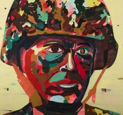 Jules de Balincourt, &quot;Psychedelic Soldier,&quot; 2012. Photo: Joseph Desler Costa. Courtesy the artist, Salon 94 and Galerie Thaddaeus Ropac.