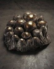 Louise Bourgeois, &quot;Avenza revisited,&quot; 196869. Bronze, silver nitrate and polished patina, 43.2 x 104.1 x 88.9 cm. Collection Faurschou Foundation. Photo: Christopher Burke.  Louise Bourgeois Trust/ Licensed by VAGA, NY.