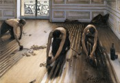 Gustave Caillebotte, &quot;Raboteurs de parquet&quot; (Floor Scrapers), 1875. Oil on canvas, 102 x 145 cm.  Paris, Muse d&#039;Orsay, gift of the heirs of Gustave Caillebotte, 1894. Photography:  bpk | RMN | Herv Lewandowski.