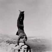 Robert Kinmont, From the series &quot;8 Natural Handstands,&quot; 1969/2009.Image courtesy Alexander and Bonin, New York.