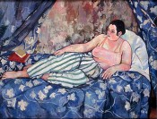 Suzanne Valadon, &quot;La chambre bleue,&quot; 1923. Oil on canvas, 35.4 x 45.7 inches (90 x 116 cm).
