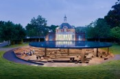 Serpentine Gallery Pavilion 2012, designed by Herzog &amp; de Meuron and Ai Weiwei.  Herzog &amp; de Meuron and Ai Weiwei. Image  2012 Iwan Baan.
