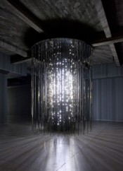 Leo Villareal &quot;Cylinder,&quot; 2011.  the artist. Image courtesy the artist and Gering &amp; Lopez Gallery, New York. Collection of The Amore Pacific Museum of Art, Korea. Photo: James Ewing Photography.