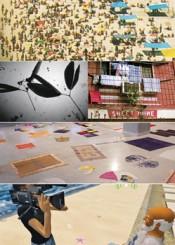 "From above: Moran Shavit, ""Exploring""; Natasha Mendonca, ""Jan Villa""; Adriano Costa, ""Tapetes""; Gabriel Mascaro, ""As aventuras de Paulo Bruscky""."