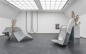 """Wiebke Grösch/Frank Metzger, """"Dies alles, Herzchen, hat einmal uns gehört,"""" 2008. Exhibition view, Frankfurter Kunstverein 2012.Photo: Norbert Miguletz; © Frankfurter Kunstverein 2012."""