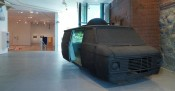 """Ant Farm, """"Media Van v.08 [Time Capsule],"""" 2008. """"Temporary Structures: Performing Architecture in Contemporary Art,"""" 2011. Installation view, deCordova Sculpture Park and Museum."""