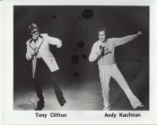 Andy Kaufman and Tony Clifton, circa 1979. Photo courtesy of The Estate of Andy Kaufman and The Comic Relief Archive.