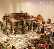 """Song Dong, """"Waste Not,"""" 2005/2009/2012. Installation view, Museum of Modern Art, New York. Courtesy of the artist and Tokyo Gallery + BTAP."""