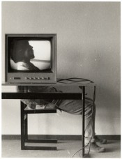 "Ernst Caramelle, ""Video-Landschaft (Kopf),"" 1974. © Generali Foundation. Photo: Werner Kaligofsky."