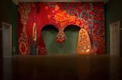 "Piotr Uklański, ""Untitled (Open Wide),"" 2012. Jute, hemp, cotton. Collection of the artist.Photo: Mateusz Sadowski."