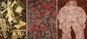 Left to right: Jackson Pollock, Alfonso Ossorio, Jean Dubuffet.*