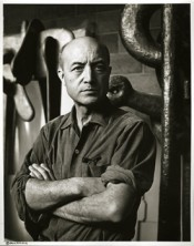 Isamu Noguchi in his Long Island City studio, 1966. Photo: Jack Mitchell. © The Isamu Noguchi Foundation and Garden Museum, New York.