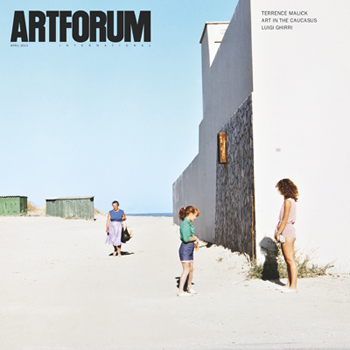 April 2013 in Artforum