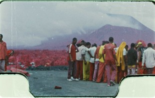 "Richard Mosse, ""The Enclave"" (still), 2012. 16mm color infrared film transferred to HD video.*"