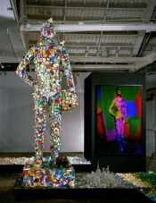 Mike Kelley, &quot;John Glenn Memorial Detroit River Reclamation Project (Including the Local Culture Pictorial Guide, 19681972, Wayne/Westland Eagle),&quot; 2001.*
